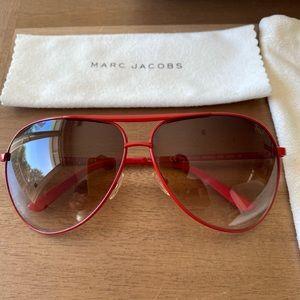 Marc Jacobs Red Aviator Sunglasses